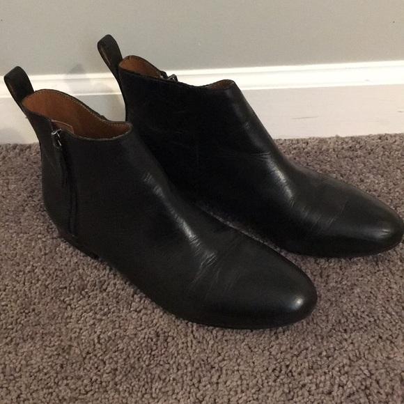 Gap Black Leather Ankle Bootie Sz 94